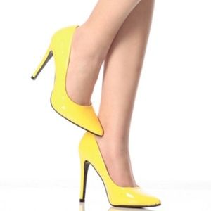 Cape Robbin Shoes - Cape Robbin Collection Veni-JLL-9 Neon Yellow Pump